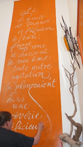 calligraphie murale
